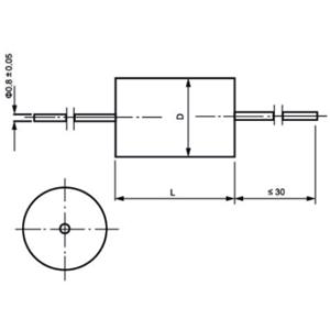 C918金属化聚酯薄膜音频电容器