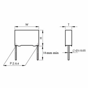 MKP 塑料外壳双面金属化聚丙烯膜电容器