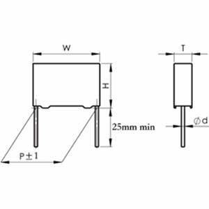 CBB442B型电容降压专用金属化聚丙烯薄膜交流电容器(MPPB壳式)